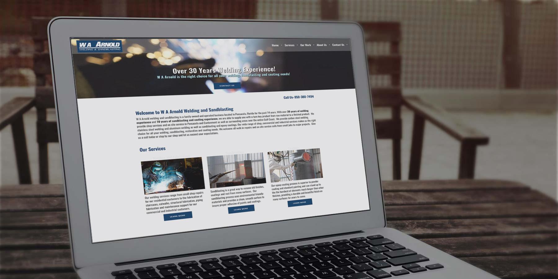 W A Arnold Welding and Sandblasting | Pensacola Web Designs